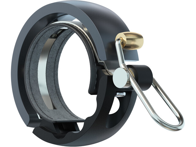 Knog Oi Luxe Bike Bell, black/grey